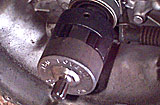 modified Lovejoy coupler, installed on transaxle input shaft